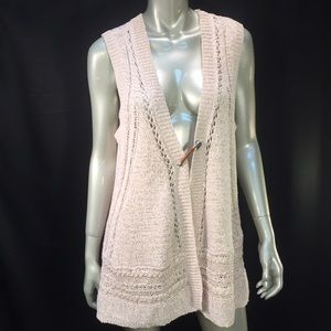 Curio New York ivory Knit Open Front Cardigan